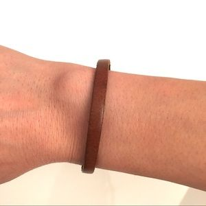 BROWN LEATHER BRACELET NWOT